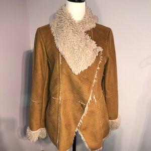 Suzy Shier Faux Fur Jacket